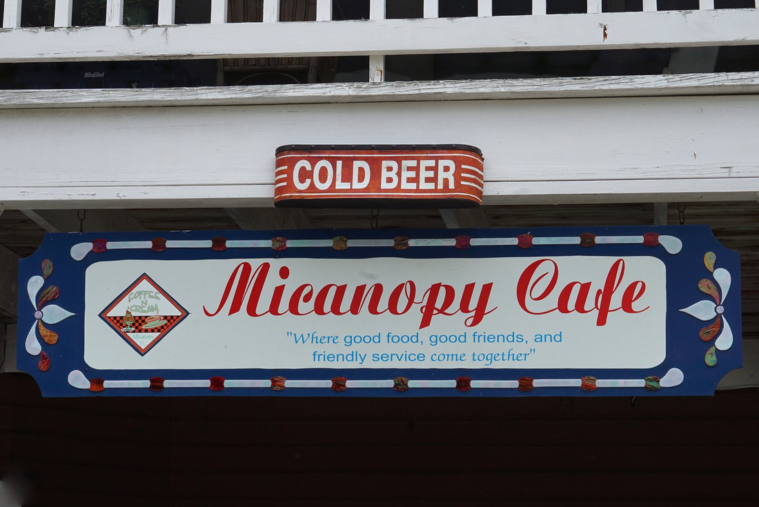Micanopy Cafe sign