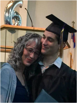Homeschool mom and graduate son