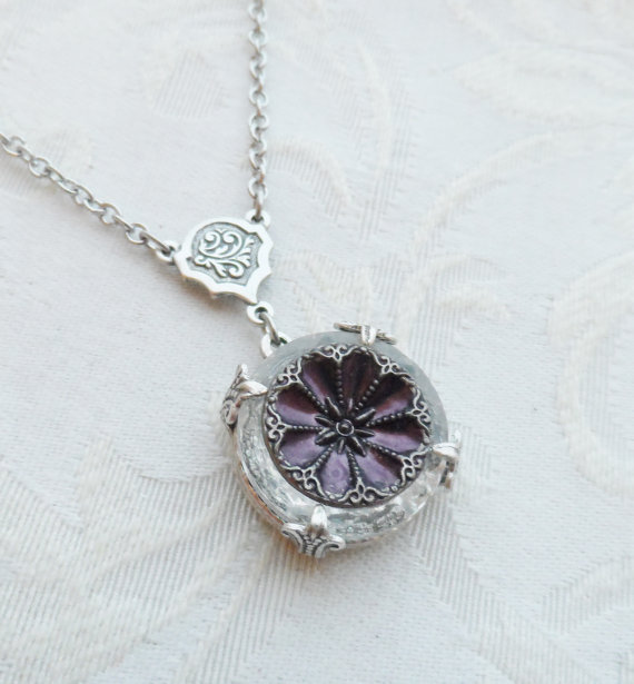 Purple Flower Necklace from Timeless Trinkets