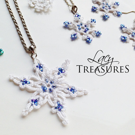 Lace Snowflake necklace