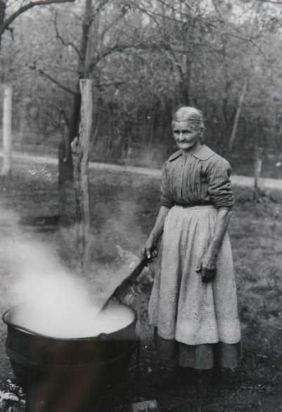 Picture of a Pioneer soap maker